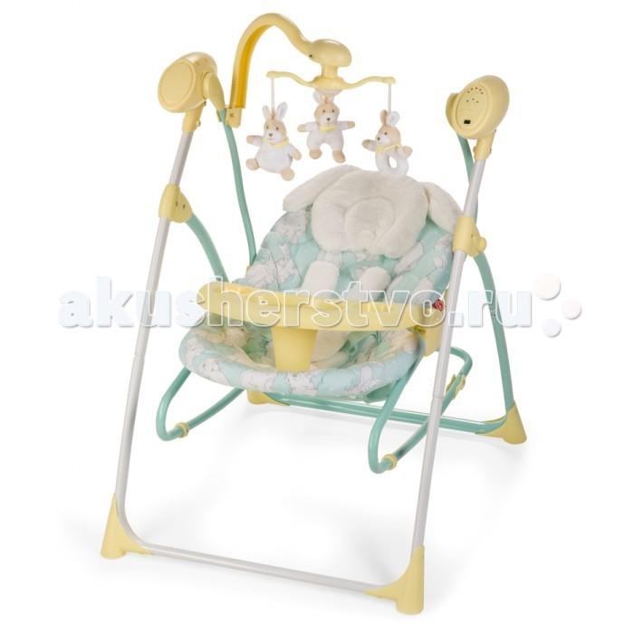 Электронные качели Happy Baby LuffyLuffyЭлектронные качели Happy Baby Luffy  Кресло-качели LUFFY — лучший помощник для мамы, начиная с первых дней жизни ребенка. Вы можете подобрать идеальное положение спинки (из трех имеющихся), которое обеспечит малышу комфорт для сна или бодрствования. Пять скоростей укачивания помогут выбрать оптимальный и комфортный вариант для вашего малыша. Двенадцать мелодий, а также наборы звуков природы развеселят или успокоят, а также помогут развитию слуха ребенка.   Электронный мобиль со съемными игрушками заинтересует кроху, поможет развитию его зрительных навыков. Имеется таймер на 15, 30 и 60 минут, который поможет маме заниматься своими неотложными делами. Данная модель может использоваться и как шезлонг, для чего достаточно просто снять люльку с опоры качелей. Также в комплекте есть съемный подносик для еды и игр, что очень удобно когда мама начнет вводить первый прикорм и малыш будет дольше бодрствовать. Чехол легко снимается, стирается, а сами качели легко складываются и не занимают много места в квартире. Работают от батареек и от сети.   Особенности: Возраст: с рождения Максимальный вес ребенка: 9 кг Вес: 7,2 кг Ширина посадочного места: 24 см Глубина посадочного места: 30 см Длина спального места: 83 см Размеры в разложенном виде ДхШхВ: 78 х 66 х 99 см В комплекте: подушечка под голову, адаптер, игрушки  Трансформируются в шезлонг 5-точечные ремни безопасности, с мягкими накладками 3 положения спинки, положения меняются одной рукой Съемный столик с подстаканником Разделитель для ножек Съемный электронный мобиль со съемными игрушками (работает от 2 батареек типа АА) 5 скоростей качания 17 мелодий и 5 звуков природы с регулировкой громкости Установка таймера со светодиодной подсветкой на 15, 30 и 60 минут. Удобная съемная подушечка под голову Возможность работы от 4 батареек<br>