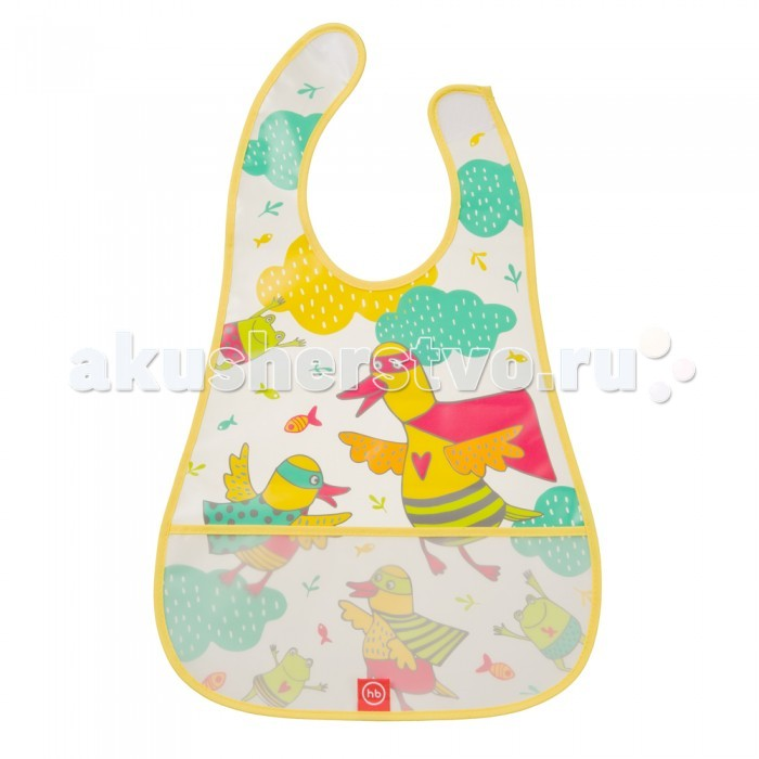 Нагрудники Happy Baby на липучке с кармашком Waterproof Baby Bib детское автокресло happy baby skyler blue