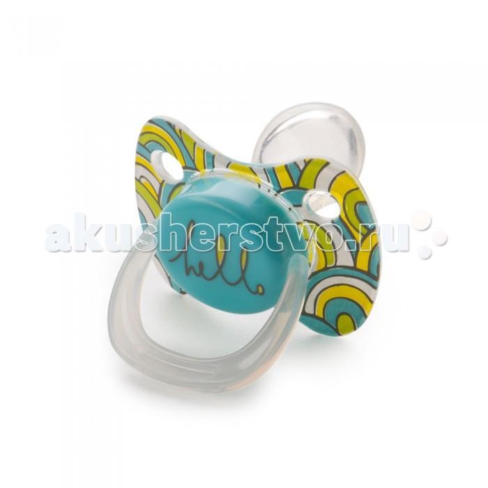 Пустышки Happy Baby ортодонтической формы с колпачком Pacifier 12-24 мес.