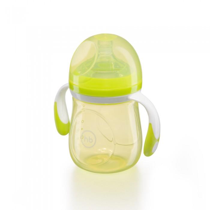 Бутылочки Happy Baby с ручками и антиколиковой силиконовой соской 180 мл ниблер happy baby 2 0 с силиконовой сеточкой yellow 15035