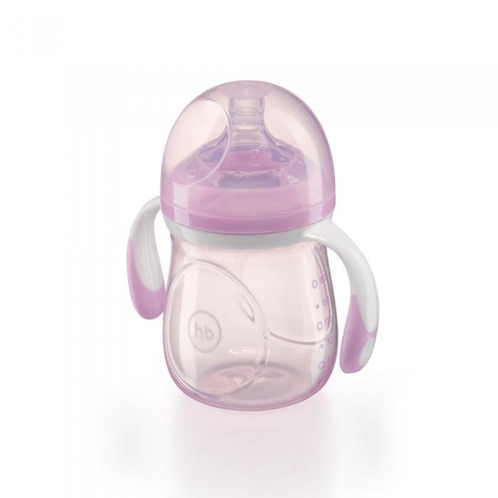 Бутылочки Happy Baby с ручками и антиколиковой силиконовой соской 180 мл happy baby бутылочка для кормления funny bunny 150 мл happy baby