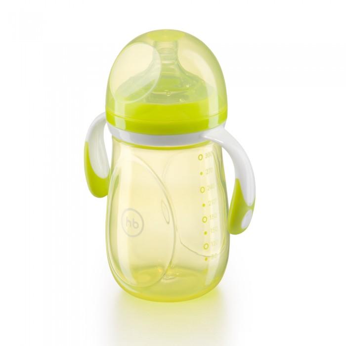 Бутылочки Happy Baby с ручками и антиколиковой силиконовой соской 300 мл ниблер happy baby 2 0 с силиконовой сеточкой yellow 15035