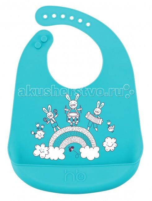 Нагрудники Happy Baby силиконовый Bib Pocket