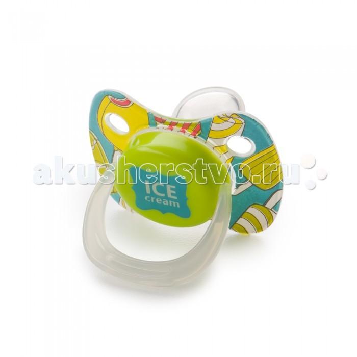 Пустышки Happy Baby симметричной формы с колпачком Baby Pacifier 6+