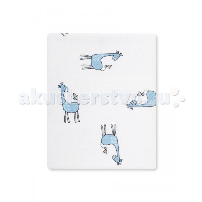 Пеленки HappyBabyDays фланелевая Жирафенок Уго 120х120 см