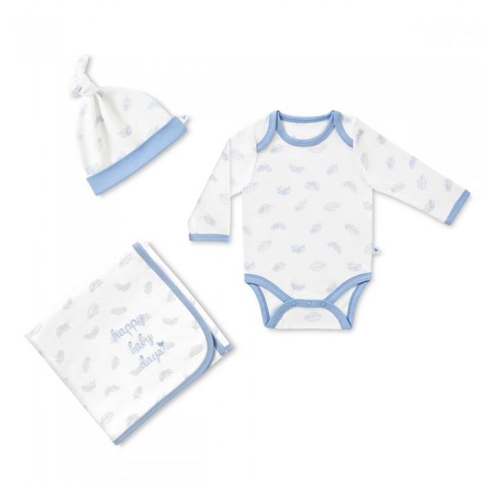 Комплекты детской одежды HappyBabyDays Набор Мягкие перышки 3 предмета happybabydays плед двухсторонний нежность