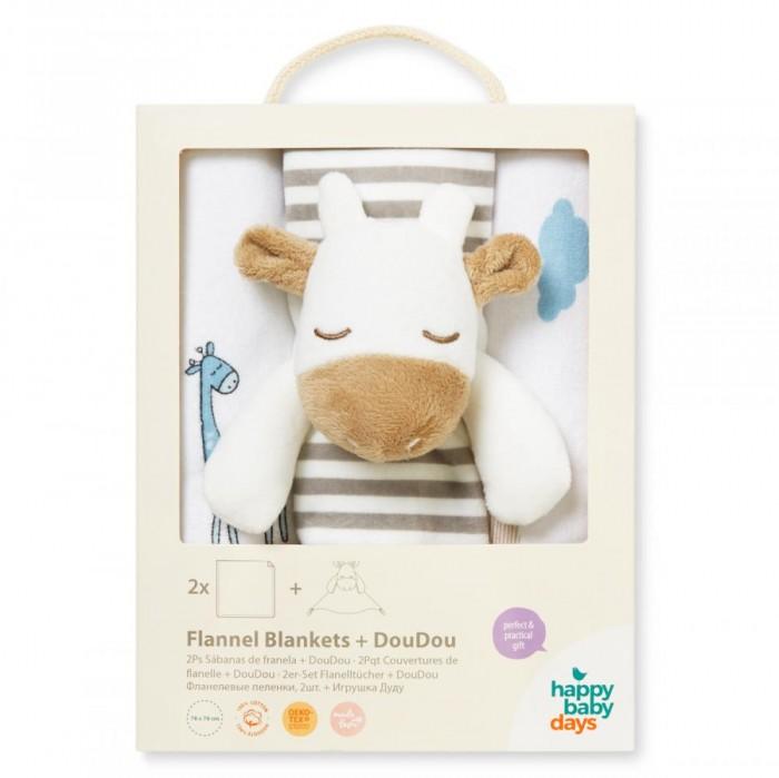 Постельные принадлежности , Пеленки HappyBabyDays набор Жирафенок Уго с игрушкой арт: 322804 -  Пеленки