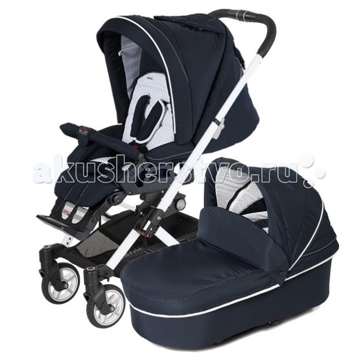 Коляска Hartan VIP GTS XL 2 в 1VIP GTS XL 2 в 1Коляска Hartan VIP GTS XL 2 в 1 к ней идут люлька для новорожденного и прогулочный блок для ребенка с полугода до 3 лет. Коляска Hartan Vip GTS XL 2 в 1 отличается сезонной универсальностью, в ней будет одинаково комфортно и в жаркую, и в ветреную, и морозную погоду.  Особенности: Большие передние колеса Коляска имеет складной капор и ручку для удобства переноса Мягкая телескопическая ручка с гипоаллергенным покрытием (не содержит поливинилхлорида) регулируется по высоте и отличается отличной эргономикой Спинка с возможностью регулировки для идеального комфорта ребенка, включая горизонтальное положение Регулируемые колеса поворотного типа с одной стороны имеют раздельную фиксацию Передние колеса снабжены амортизатором Регулируемая жесткость подвески В модели использована уникальная тормозная система Wipp Matic ножного типа Легкая складная конструкция переносной детской люльки отличается компактностью и вместительностью Имеет вдвое меньшие размеры в сложенном виде Суперлегкие подшипниковые колеса с колесными дисками Cross и резиной Solight ecco Внутренняя обивка спального блока легко снимается и при необходимости подлежит стирке в стиральной машине при щадящем режиме и температуре 30 градусов Коляска дополнена сумкой-корзиной для покупок, вмещающей до 5 кг. Уникальный в своем роде складной механизм люльки (спального блока) и рамы коляски  дает возможность транспортировать её даже в автомобиле Mini Cooper! Блок можно установить по/против хода движения Регулируемая подставка для ног Защита от выпадения ребенка В комплекте со спальным блоком  (в сложенном виде люлька становится совершенно плоской, что очень удобно при транспортировке и хранении). Вес коляски: со спальным блоком: 13,9 кг с прогулочным блоком: 14,6 кг<br>