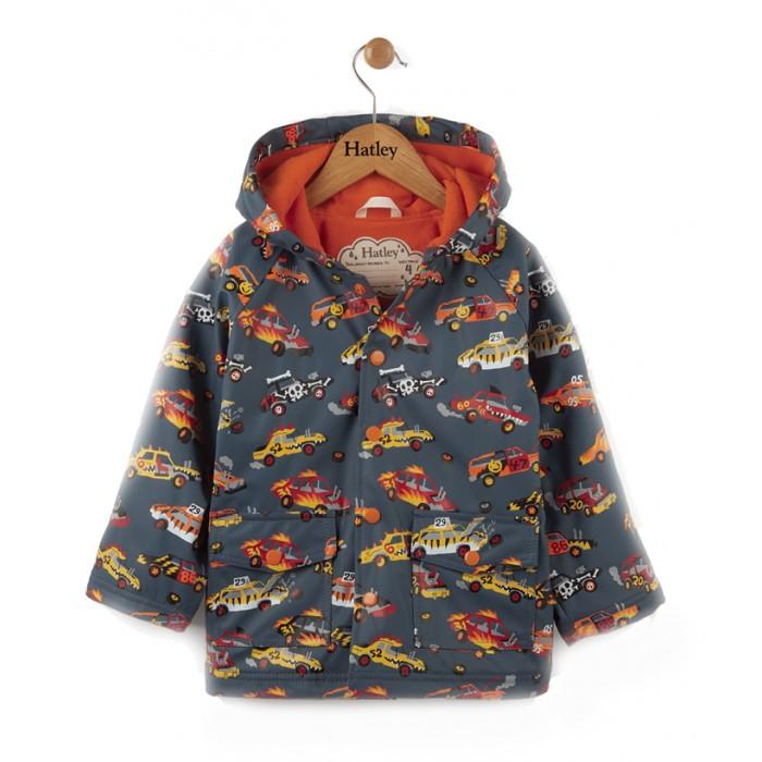 Детская одежда , Ветровки, плащи, дождевики и жилеты Hatley Плащ непромокаемый RC6CARS495 арт: 479266 -  Ветровки, плащи, дождевики и жилеты