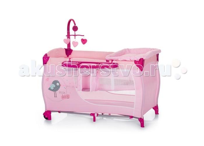 Манеж Hauck Baby CenterBaby CenterМанеж Hauck Baby Center оснащен столиком для пеленания, полкой для вещей, необходимых для пеленания, подвесным уровнем дна для новорожденных, мобилем с мягкими мишками-игрушками – функционально идеальный вариант, если Вы путешествуете с ребенком.   Подвесное дно манежа для новорожденных (выдерживает нагрузку до 9 кг) облегчает укладывание и доставание ребенка, предохраняя Вашу спину от перенапряжения.   Манеж-кровать Hauck Baby Center оснащена двумя колесиками со стопами, которые позволяют легко перемещать по комнате. Система складывания достаточно проста и в сложенном состоянии Baby Center не занимает много места.  Особенности: Для детей с рождения до 3 лет 2 уровня высоты, максимальная нагрузка на верхний уровень - 7 кг Столик для пеленания Музыкальная подвеска с игрушками Боковая панель для принадлежностей Два колеса В комплекте матрасик и сумка для транспортировки Компактно складывается  Габариты изделия: Размеры в разложенном состоянии: 60 x 120 x 80 см Размеры в сложенном состоянии : 80 x 27 x 27 см Размер внутреннего пространства: 120 x 60 см Толщина матраса: 2 см Вес: 14 кг<br>