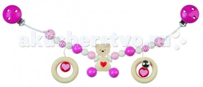 Heimess Растяжка на коляску МедвежонокРастяжка на коляску МедвежонокHeimess Растяжка на коляску Медвежонок   Растяжка на клипсах может крепиться не только на коляску, но и на автокресло, а также прикрепляться к любым текстильным поверхностям. У игрушки есть маленький колокольчик.  Длина 40 см<br>