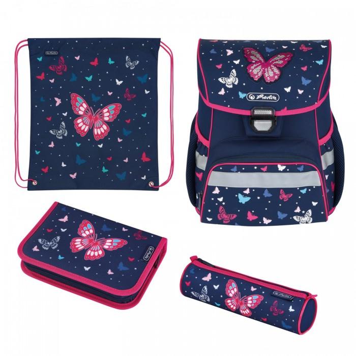 Картинка для Школьные рюкзаки Herlitz Ранец Loop Plus Butterfly с наполнением