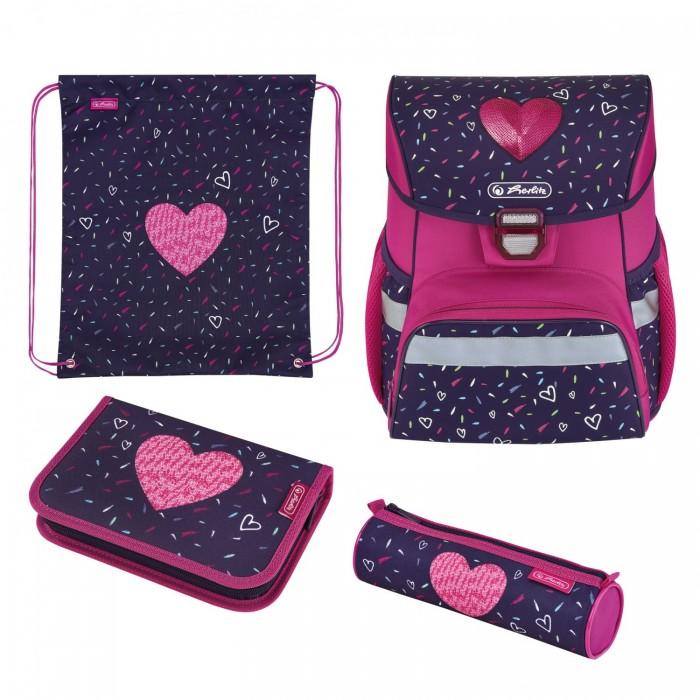 Школьные рюкзаки Herlitz Ранец Loop Plus Tropical Heart с наполнением