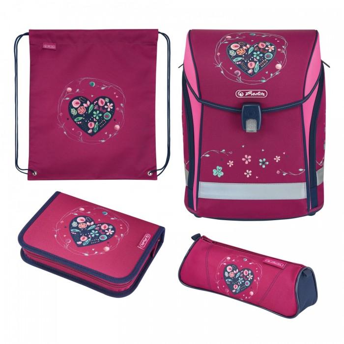 Школьные рюкзаки Herlitz Ранец Midi Plus Heart с наполнением ранец midi plus black diamond с наполн herlitz