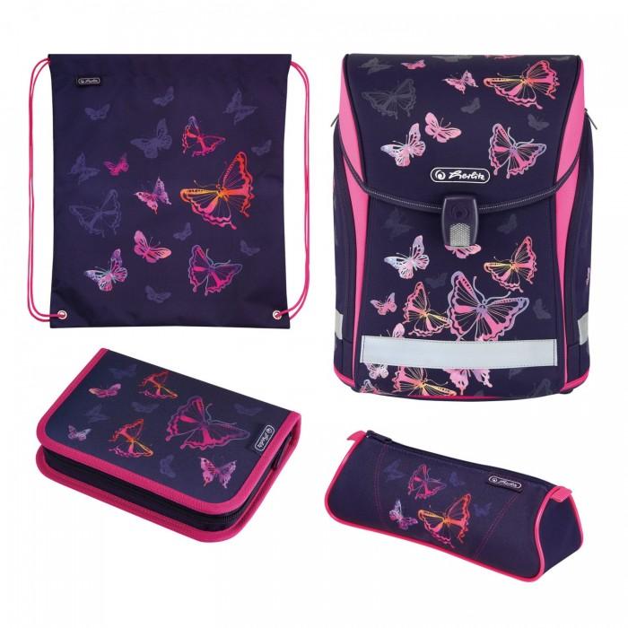 Школьные рюкзаки Herlitz Ранец Midi Plus Rainbow Butterfly с наполнением ранец midi plus black diamond с наполн herlitz