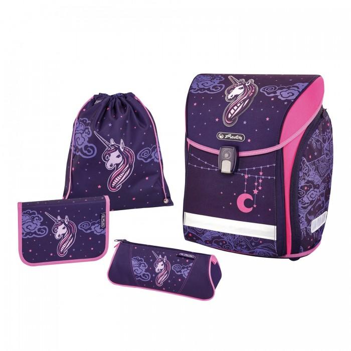 Школьные рюкзаки Herlitz Ранец Midi Plus Unicorn Night с наполнением herlitz ранец herlitz midi plus unicorn night с наполнением