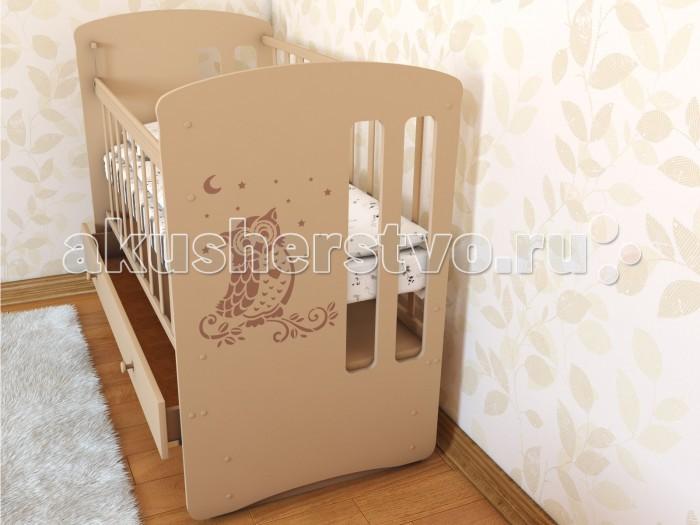 Детская кроватка Берегиня Совушка (маятник поперечный)