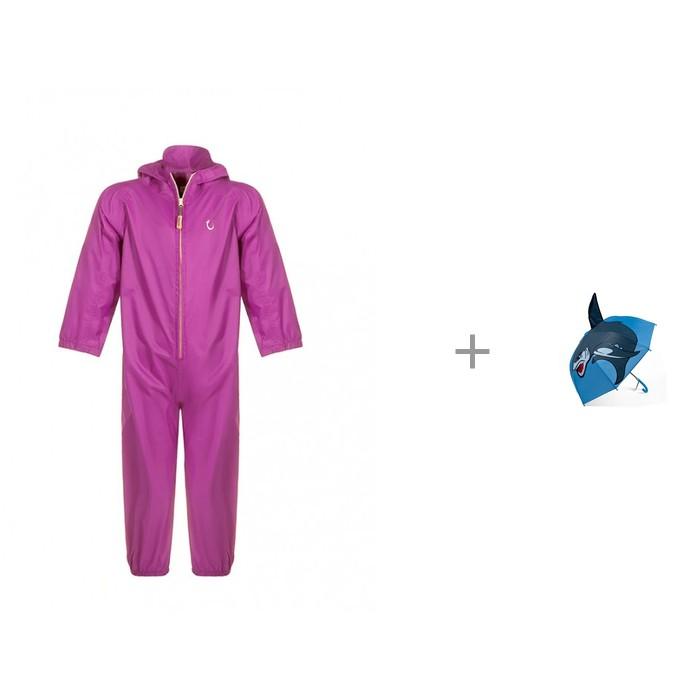 Купить Верхняя одежда, Hippychick Комбинезон-дождевик летний детский непромокаемый с детским зонтиком Mary Poppins фигурным 46 см