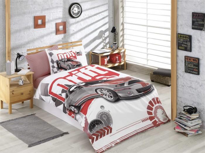 Постельные принадлежности , Постельное белье 1.5-спальное Hobby Home Collection Drift 1,5 спальное Евро (4 предмета) арт: 477556 -  Постельное белье 1.5-спальное