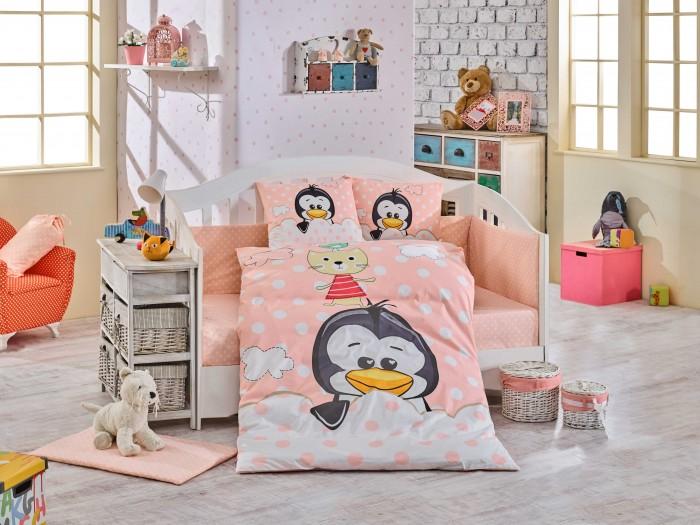 Постельные принадлежности , Постельное белье Hobby Home Collection Penguin арт: 424569 -  Постельное белье