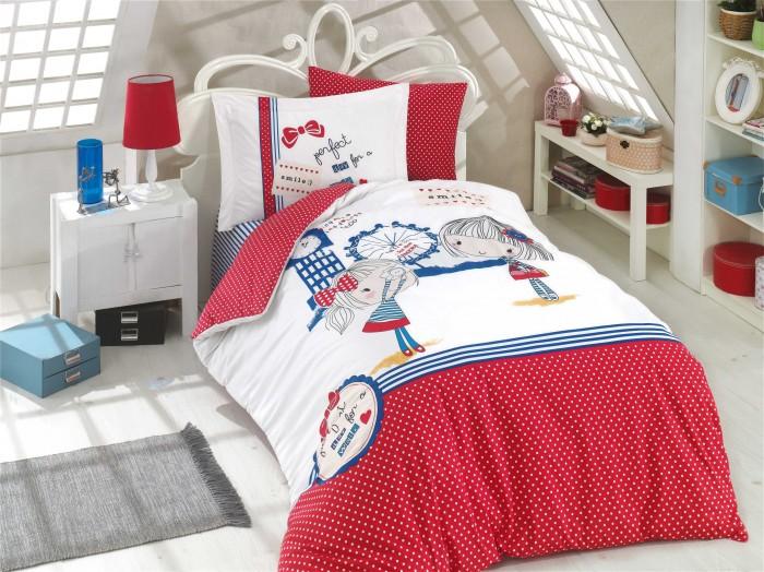 Постельное белье 1.5-спальное Hobby Home Collection Smile Евро (4 предмета)
