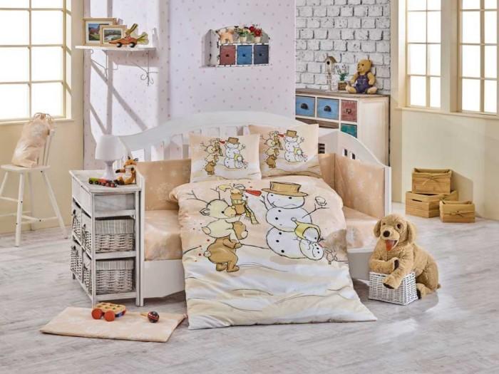Постельное белье Hobby Home Collection Snowball 100х150 (5 предметов)