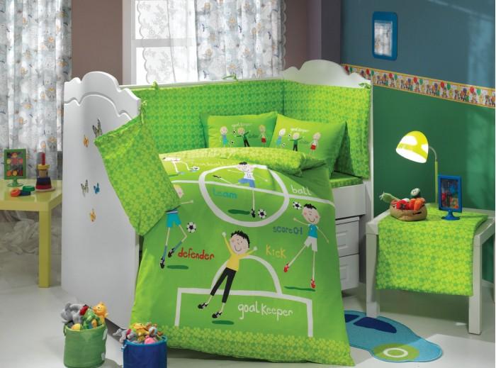 Постельные принадлежности , Комплекты в кроватку Hobby Home Collection Soccer (10 предметов) арт: 477516 -  Комплекты в кроватку