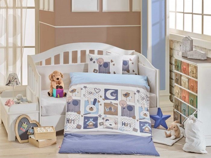Комплект в кроватку Hobby Home Collection Sweet home (10 предметов)