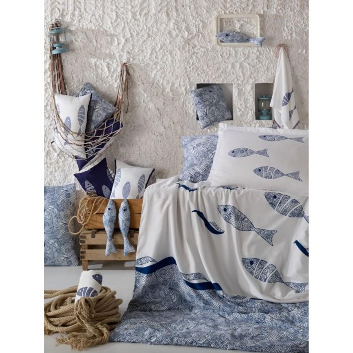Постельные принадлежности , Постельное белье 1.5-спальное Hobby Home Collection 1.5-спальное Blues 160x240 см арт: 298975 -  Постельное белье 1.5-спальное