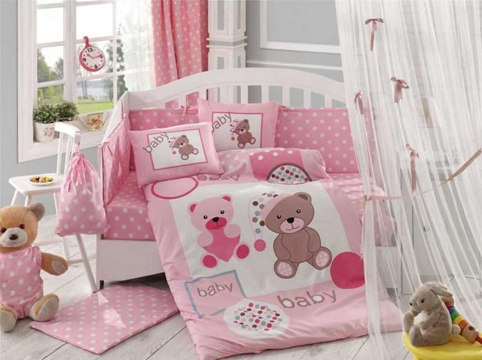 Комплекты в кроватку Hobby Home Collection С одеялом Ponpon 100х150 см