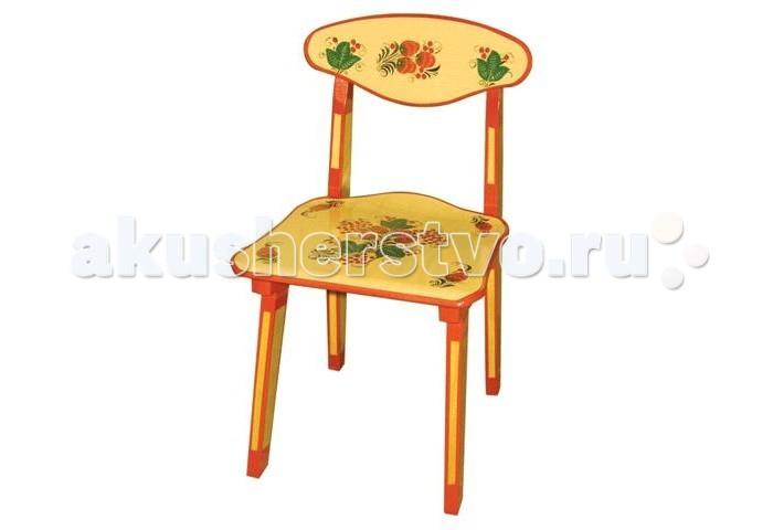 Детская мебель , Столы и стулья Хохлома Стул детский с художественной росписью арт: 439739 -  Столы и стулья