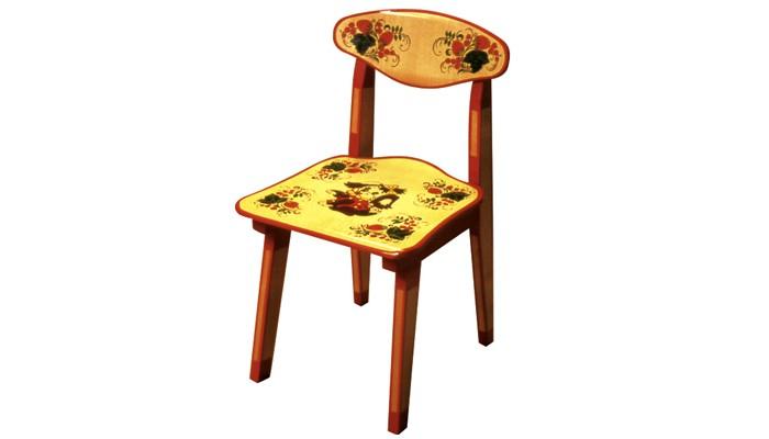 Фото Столы и стулья Хохлома Стул детский с художественной росписью зверьки