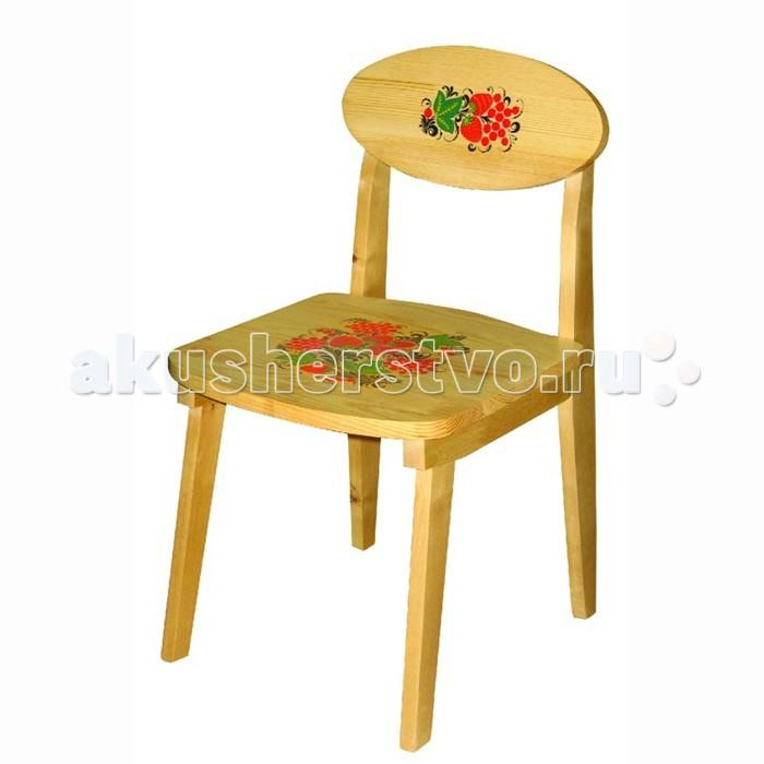 Фото Детские столы и стулья Хохлома Стул детский с художественной росписью из массива