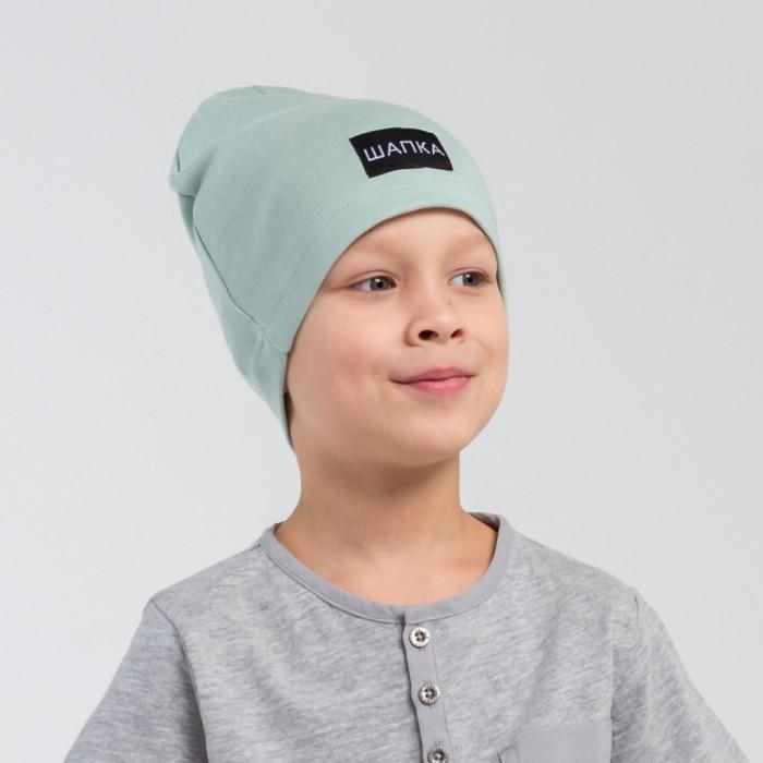 Шапки, варежки и шарфы HohLoon Однослойная шапка с нашивкой Шапка