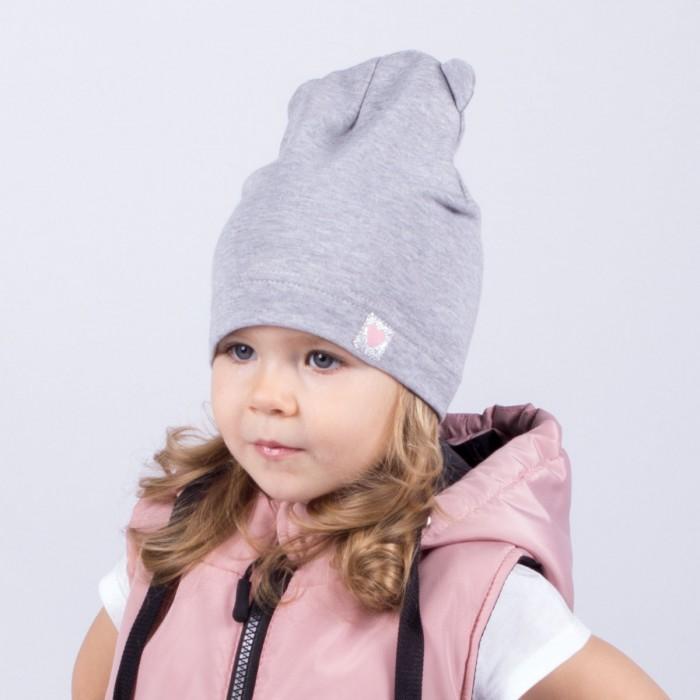 Шапки, варежки и шарфы HohLoon Однослойная шапка с ушками Маленькое сердечко