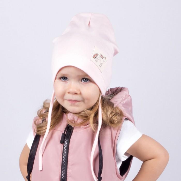 Шапки, варежки и шарфы HohLoon Однослойная шапка с завязками Единорог