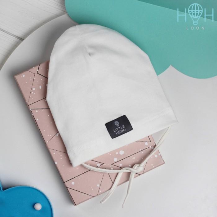 Шапки, варежки и шарфы HohLoon Однослойная шапка с завязками Little Hero