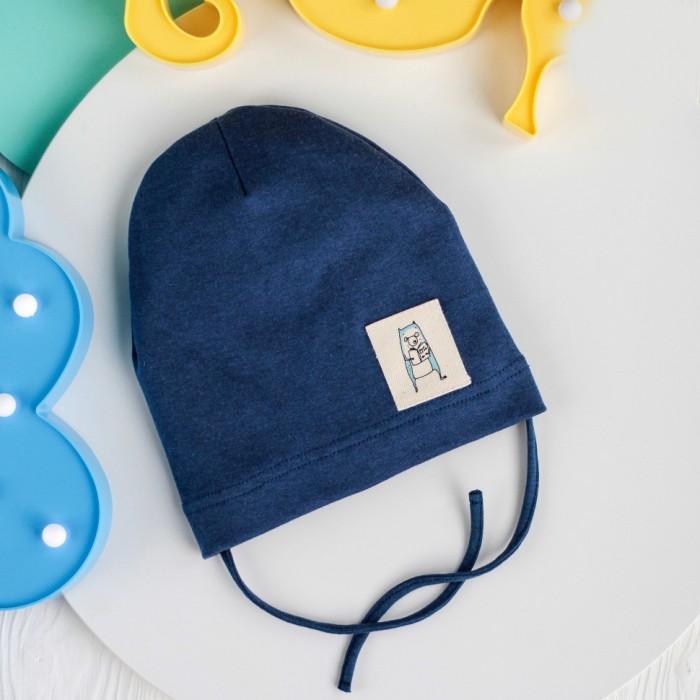 Шапки, варежки и шарфы HohLoon Однослойная шапка с завязками Мишка