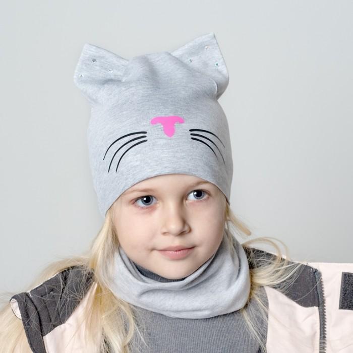 Картинка для Шапки, варежки и шарфы HohLoon Шапка двухслойная кошка с усами