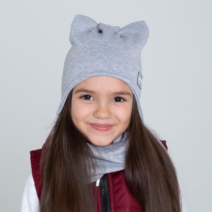 Картинка для Шапки, варежки и шарфы HohLoon Шапка кошка с завязками и светоотражающим шевроном НОН