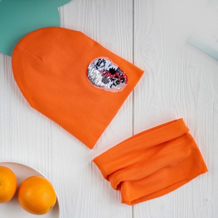 Картинка для Шапки, варежки и шарфы HohLoon Шапка лапша двухслойная с черепом из пайеток