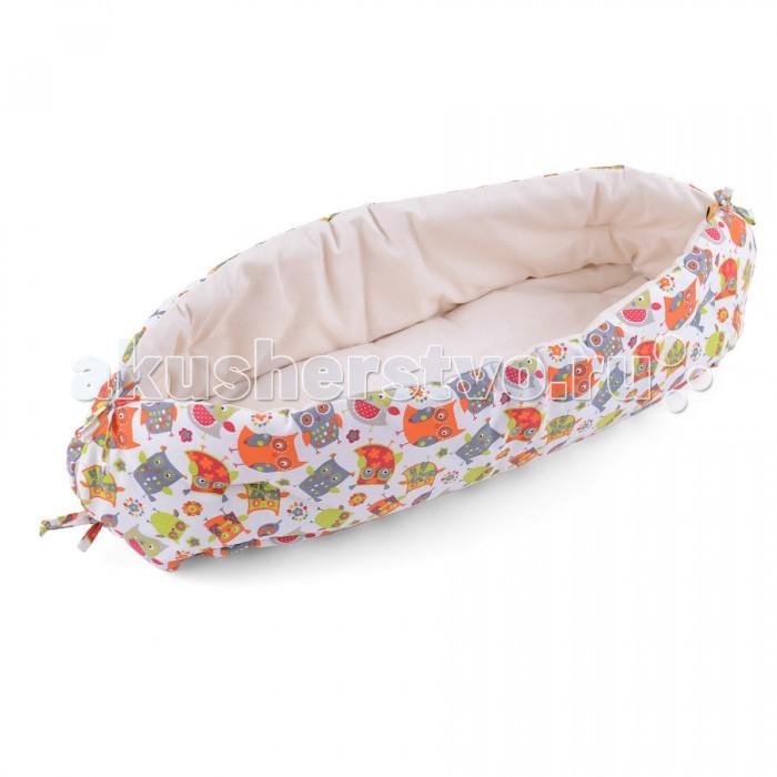 Позиционеры для сна HoneyMammy Кокон для новорожденного для совместного сна Organic Owls позиционеры для сна honeymammy кокон для новорожденного для совместного сна