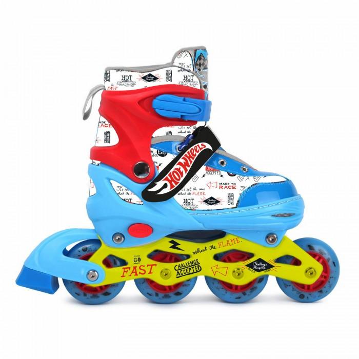 Детские ролики Hot Wheels PU колеса со светом