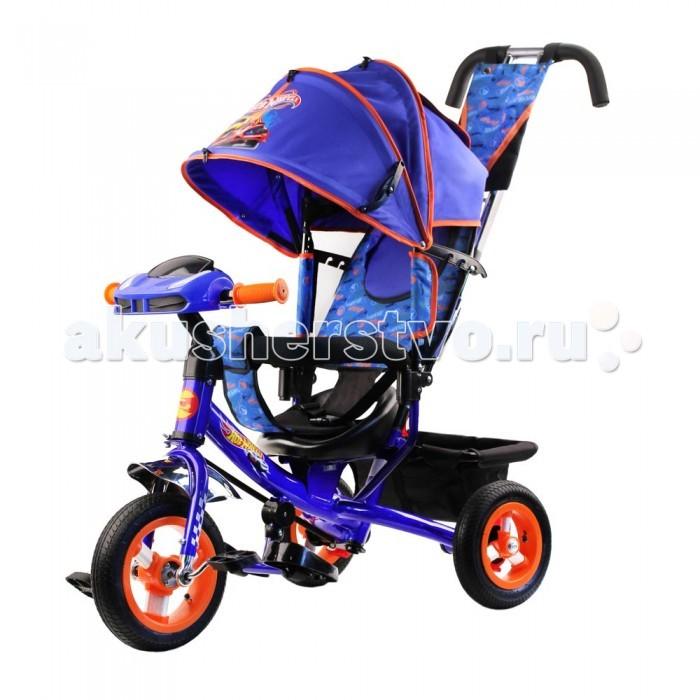 Детский транспорт , Трехколесные велосипеды Hot Wheels с телескопической родительской ручкой арт: 547291 -  Трехколесные велосипеды