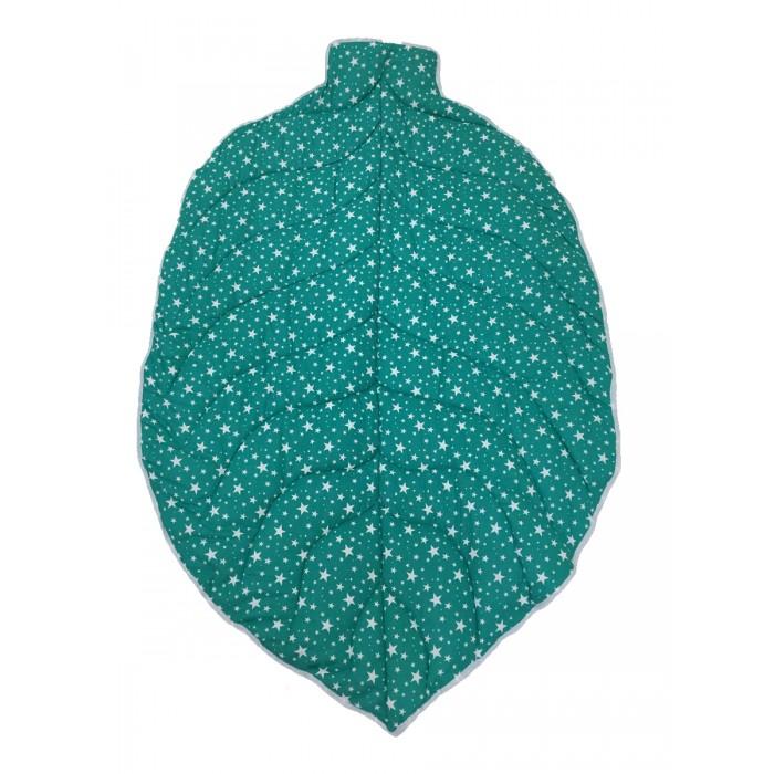 Одеяло Hotenok коврик стеганное в виде листочка Звёздочки 145x95 см