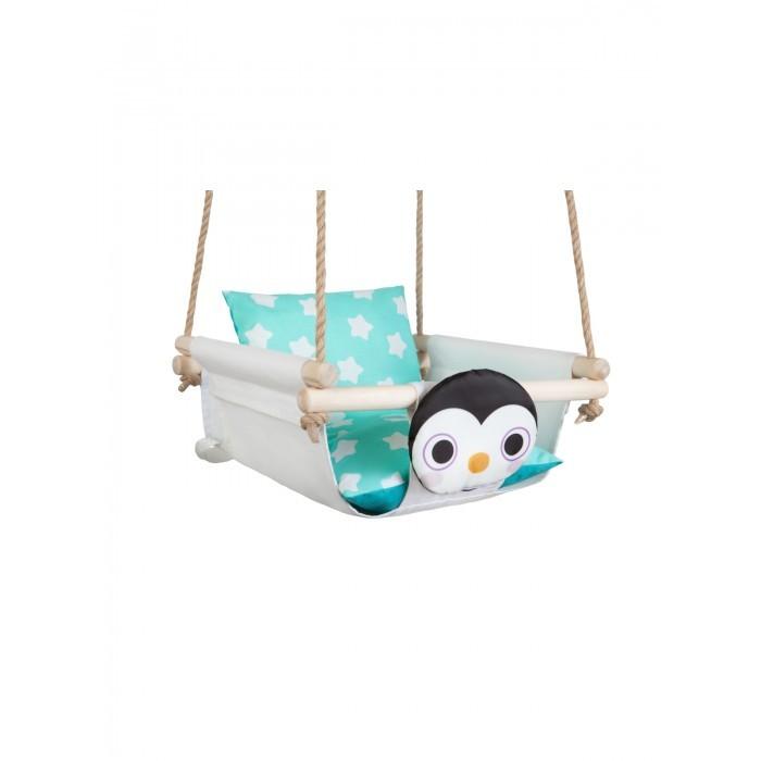 Качели Hotenok подвесные с подушками Пингвин на снегу