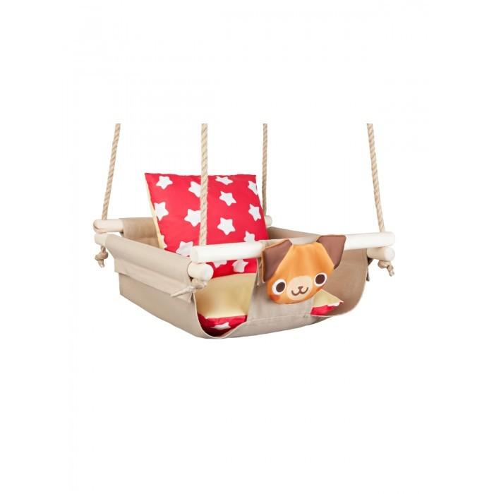Качели Hotenok подвесные с подушками Собака на песке