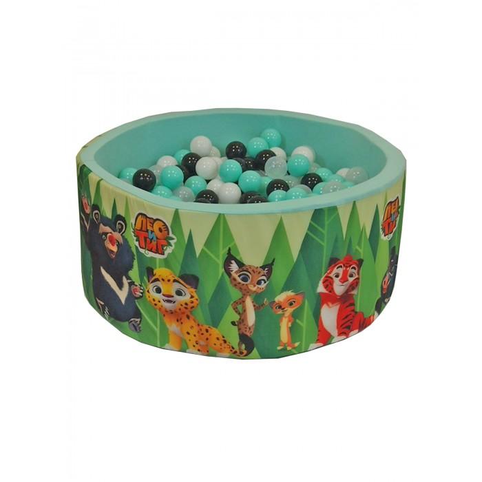 Купить Сухие бассейны, Hotenok Сухой игровой бассейн Лео и Тиг 40 см с комплектом шаров 200 шт.