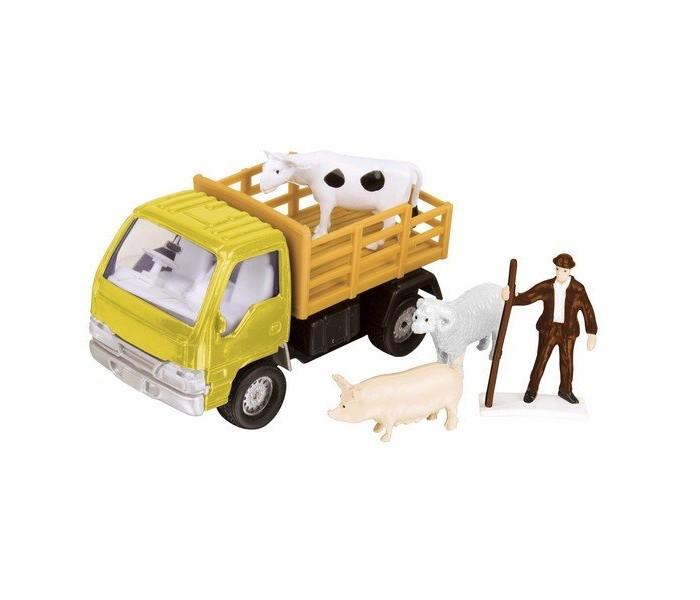 Машины Roadsterz Фермерский набор для перевозки животных машины hti машинка roadsterz самосвал бункеровоз