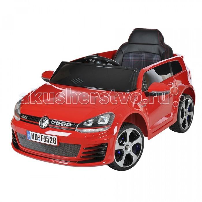 Электромобиль Huada Volkswagen Golf GTIVolkswagen Golf GTIHuada Электромобиль Volkswagen Golf GTI предназначен для детей от 3-х лет. Великолепный, достоверный дизайн, мощный двигатель и светящиеся фары создадут ощущение реального автомобиля, что приведет в восторг юных водителей!  Пульт дистанционного управления с Bluetooth обеспечит юному гонщику родительский контроль и безопасность. Удобное одноместное сидение с высокой спинкой оборудовано ремешками безопасности - сидение не регулируется, чехол сидения обшит эко-кожей. 2 открывающиеся двери. Большие пластиковые колеса с резиновыми накладками обеспечивают плавный и тихий ход, не царапают пол. Подсветка колесных дисков. 3 скорости при движении вперед позволят выбрать оптимальный и безопасный режим.   Красиво оформленная приборная панель с индикатором, кнопкой вкл/выкл, коробкой передач. Звуковые эффекты. Запуск двигателя с кнопки. Удобный поворотный руль и педаль газа: при нажатии - едет, если педаль отпустить - остановка позволяют комфортно управлять движением машины. Передние и задние светодиодные фары добавляют реализма. Слот для карты памяти Micro SD. Регулировка громкости звука. Задние колеса оснащены амортизаторами. Изготавливается из высокопрочного, безопасного, высококачественного пластика.   Особенности: Материал колес - мягкие (EVA). Установка колес одной кнопкой. Материал корпуса - высококачественный ударопрочный пластик. Покраска корпуса. Количество аккумуляторных батарей - 1. Напряжение одной аккумуляторной батареи - 12V Емкость одной аккумуляторной батареи - 7 A/h Количество мотор-редукторов - 2 Мощность одного мотор-редуктора - 40,5W Педаль газа Количество открывающихся дверей - 2 Амортизаторы на задней оси Светодиодные передние фары Светодиодные задние фонари Функция медленного старта Количество скоростей вперед - 3 Количество скоростей назад - 1 Слот для карты памяти Micro SD - в комплекте 128 мб Регулировка громкости Пульт Дистанционного управления Тип пульта дистанционного управления - Blutooth Ра